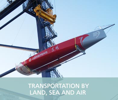 GAC Pindar - Transportation by land, sea and air