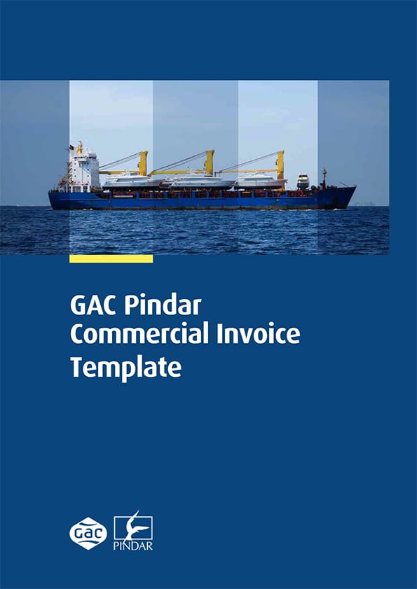GAC Pindar Commercial Invoice Template XLS
