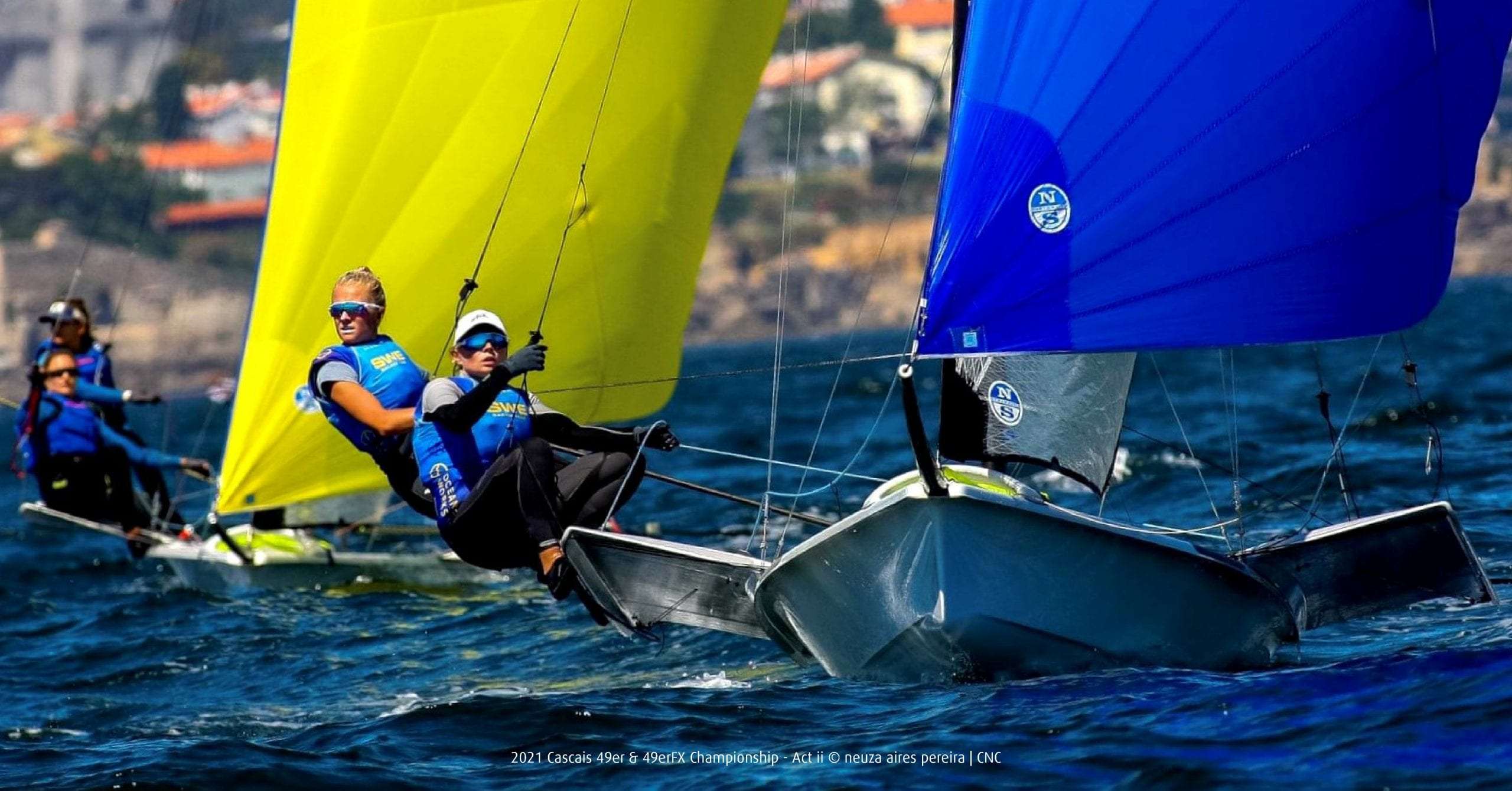 2 Klara Wester and team mate Rebecca Netzler competing in the 49erFX Championships in Cascais earlier this year - copyright neuza aires pereira CNC_Fb